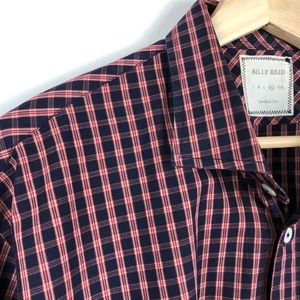 Billy Reid Men's Plaid Button Down   Standard Cut